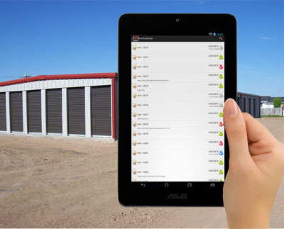 tablet walk through self storage app