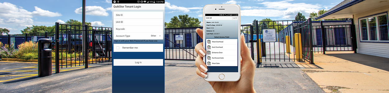 Manager App Self Storage, quikstor