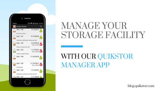 Manage Your Storage Facility From Your Smartphone | QuikStor