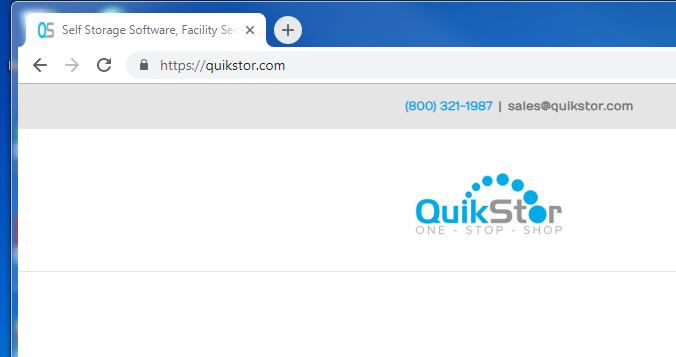 quikstor website with ssl lock example