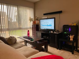 quikstor work from home wfh remote office couch tv