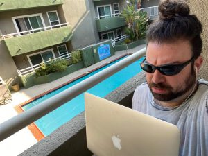 quikstor work from home wfh remote office on balcony