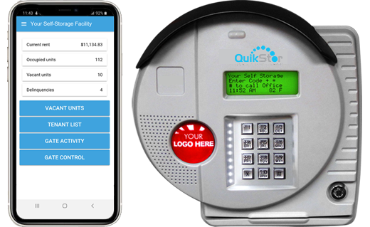 self storage access control keypad with tenant and manager app