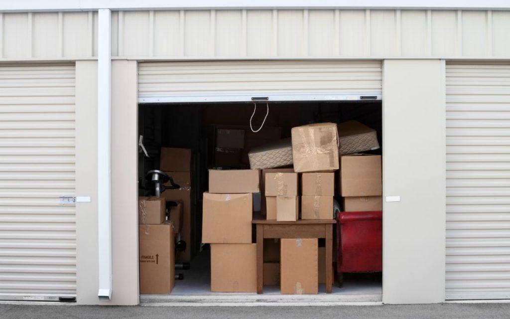 tenants belongings stored in a self storage unit